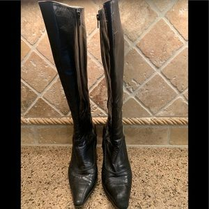Shoes - Tall black leather boots